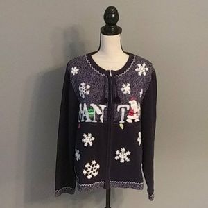 **3/$10** All Points Holiday Sweater Size XL